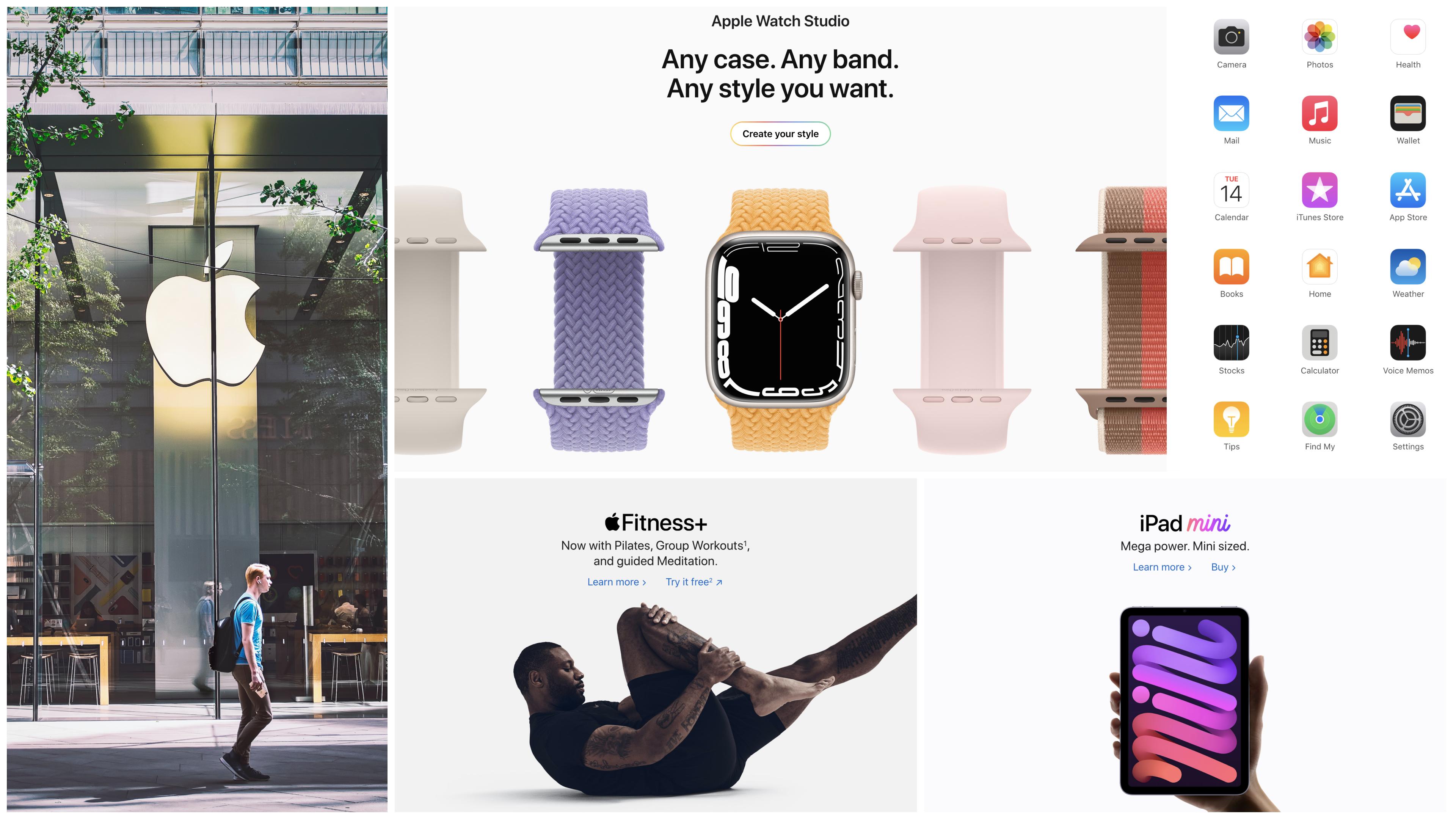 lms design - cross platform brand continuity example apple